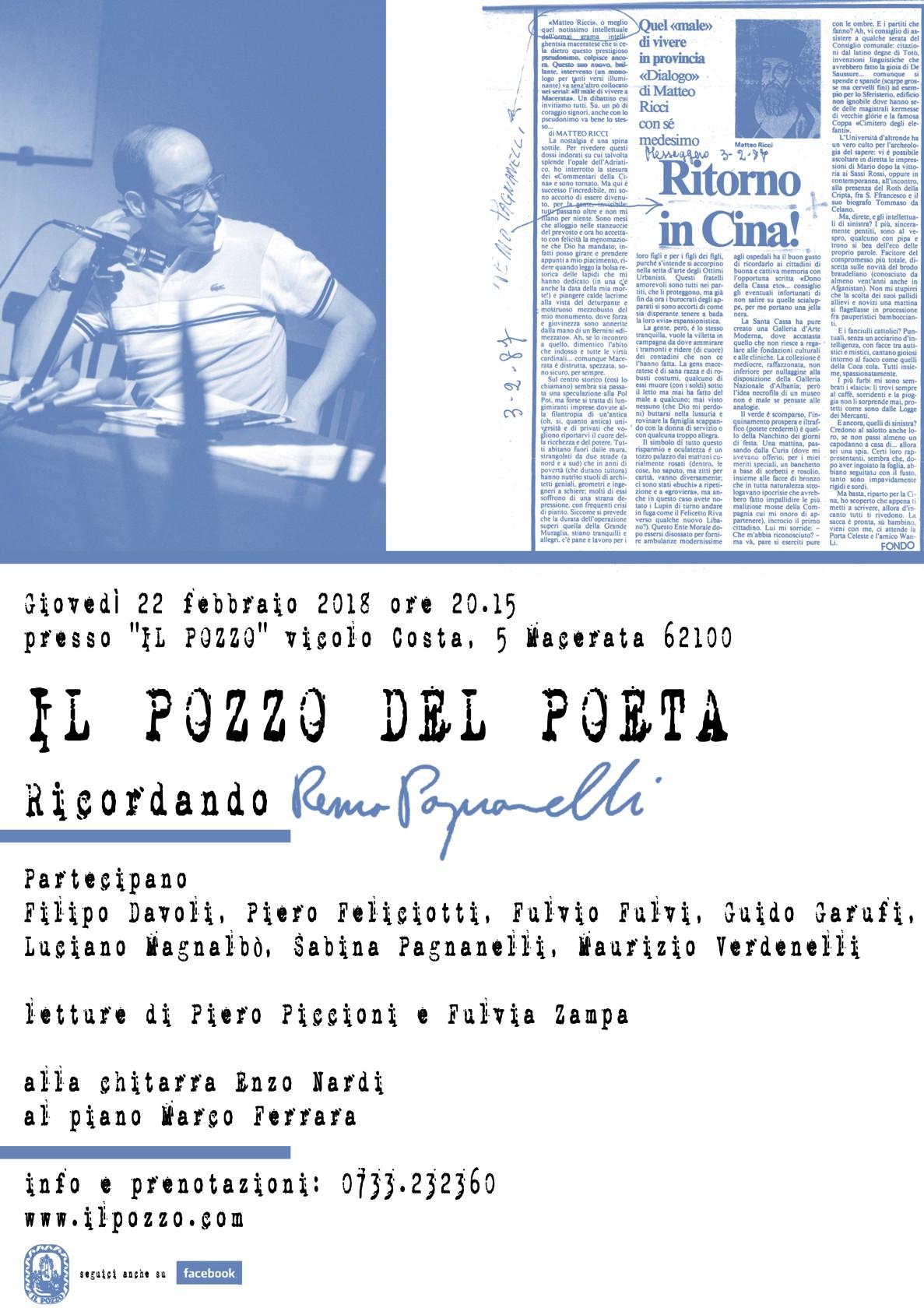 Serata in ricordo di Remo Pagnanelli